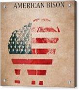 American Mammal The Bison Acrylic Print