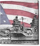 American Naval Power Acrylic Print