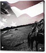 American Patriot -  Cowboy -girl Acrylic Print