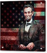 American President Abraham Lincoln 01 Acrylic Print