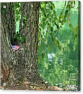 American Pride By The Pond Acrylic Print