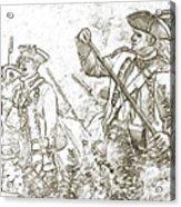 American Revolution Battle Sketch Acrylic Print