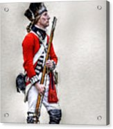 American Revolution British Soldier  Acrylic Print by Randy Steele