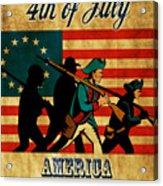 American Revolution Soldier Vintage Acrylic Print by Aloysius Patrimonio