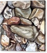 American River Rocks Acrylic Print
