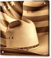 American Rodeo Cowboy Hat Acrylic Print