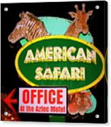 American Safari Motel Acrylic Print