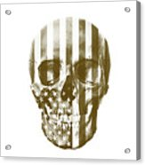 American Skull Beige Acrylic Print