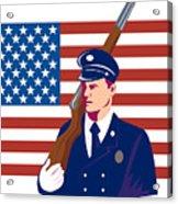 American Soldier Flag Acrylic Print by Aloysius Patrimonio