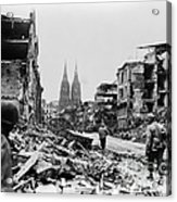 American Soldiers In Cologne, Germany Acrylic Print