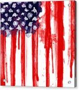 American Spatter Flag Acrylic Print