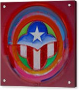American Star Button Acrylic Print