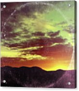 American Sunset As Vintage Album Art Acrylic Print