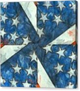 Americana Abstract Acrylic Print