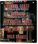 Americana - Food - Menu  Acrylic Print
