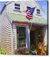 Bike And Usa Flag - Americana Series 04 Acrylic Print