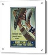 Americans All Acrylic Print