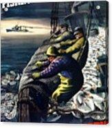 America's Fishing Fleet And Men  Acrylic Print