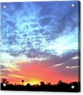 City On A Hill - Americus, Ga Sunset Acrylic Print