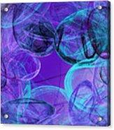 Amethyst Gems Stones Acrylic Print