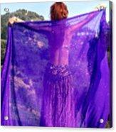 Ameynra Belly Dance. Purple Veil Acrylic Print