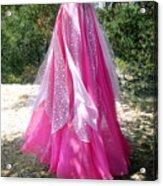Ameynra Design - Pink-white Petal Skirt 146 Acrylic Print