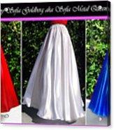 Ameynra Design. Satin Skirts - Red, White, Blue Acrylic Print