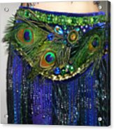 Ameynra Fashion Skirt With Peacock Feathers Acrylic Print