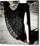 Ameynra Gothic Fashion By Sofia Metal Queen. Lace Skirt 168 Acrylic Print