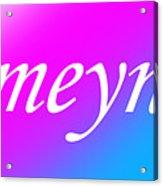 Ameynra - Logo 003 Acrylic Print