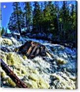 Amincon River Rootbeer Falls Acrylic Print