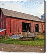 Amish Barn At Sunrise Acrylic Print