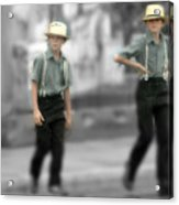 Amish Brothers Acrylic Print