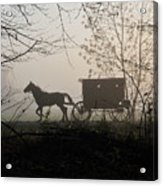 Amish Buggy Foggy Sunday Acrylic Print