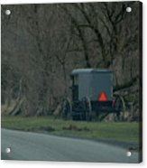 Amish Buggy Parked By A Creek Acrylic Print