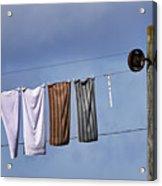Amish Clothesline Acrylic Print