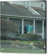 Amish Clothing Hanging To Dry Acrylic Print