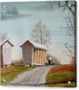 Amish Corncribs Acrylic Print