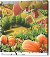 Amish Country - Pumpkin Patch Country Farm Landscape Acrylic Print
