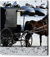 Amish Crossing Acrylic Print