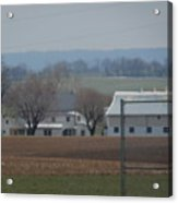 Amish Farm After Harvest Acrylic Print