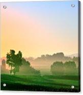 Amish Farm Sunrise Acrylic Print