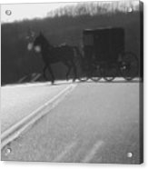 Amish Horse And Buggy In Winter Acrylic Print