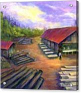 Amish Lumbermill Acrylic Print