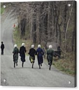 Amish People Visiting Middle Creek Acrylic Print