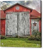 Amish Red Barn Acrylic Print
