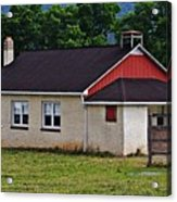 Amish School In Rote, Pa Acrylic Print
