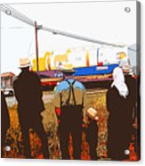 Amish Watching A Nuclear Reactor Go By 2 Acrylic Print