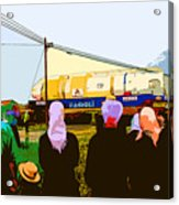 Amish Watching A Nuclear Reactor Go By Acrylic Print