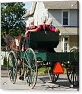 Amish Women Acrylic Print